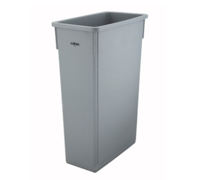 "Winco PTC-23SG 23-gal Rectangle Slim Trash Can, 19.9""L x 11""W x 29.5""H, Gray"