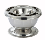 Winco SBC-1 3-Piece Supreme Bowl Set w/ Ring, Inner Bowl & Base, Stainless