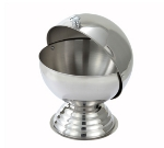 "Winco SBR30 20-oz Sugar Bowl w/ Roll Top Lid, 5.25"" Round, Stainless"