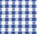 "Winco TBCO-70B Oblong Table Cloth, PVC Material w/ Flannel Backing, 52 x 70"", Blue"