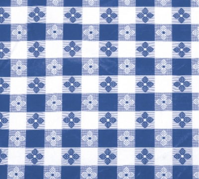 Winco TBCO-70B Oblong Table Cloth, PVC Material w/ Flannel Backing, 52 x 70-in, Blue