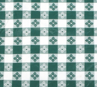 "Winco TBCS-52G Square Table Cloth, PVC Material w/ Flannel Backing, 52 x 52"", Green"