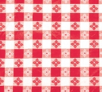 "Winco TBCO-70R Oblong Table Cloth, PVC Material w/ Flannel Backing, 52 x 70"", Red"