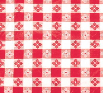 "Winco TBCS-52R Square Table Cloth, PVC Material w/ Flannel Backing, 52 x 52"", Red"