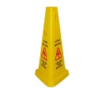 "Winco WCS-27T 27"" Tri-Cone Wet Floor Caution Sign"