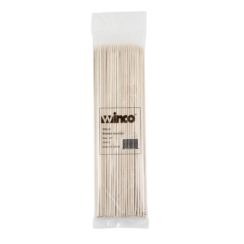 "Winco WSK-10 10"" Bamboo Skewers"
