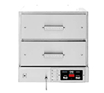 Winston HBB0D2 Hold & Serve Drawer - (2)Electronic Controls, (2) Drawer, Stainless, 120v