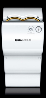 Dyson AB04 Dyson Airblade Automatic Hand Dryer, Quick, Efficient, Hygienic, Poly, White