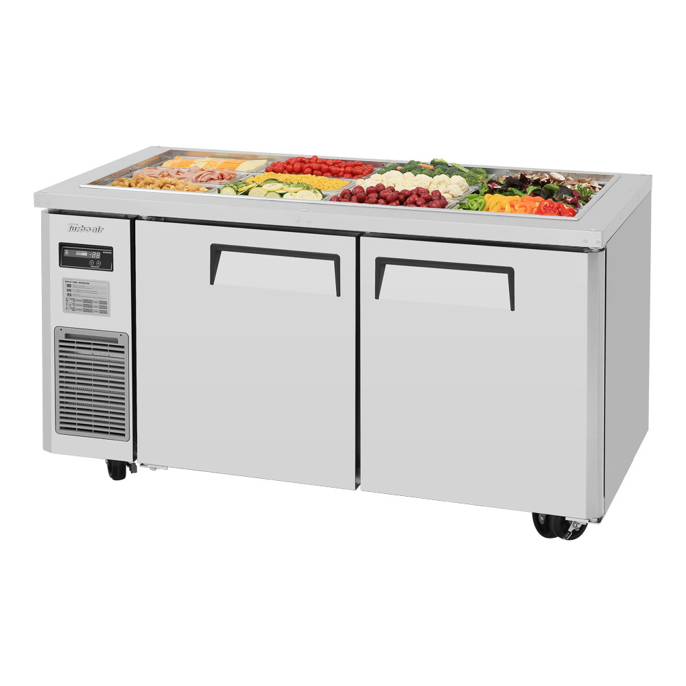 Turbo Air JBT-60 Refrigerated Buffet Table w/ (2) Swing Doors, Stainless