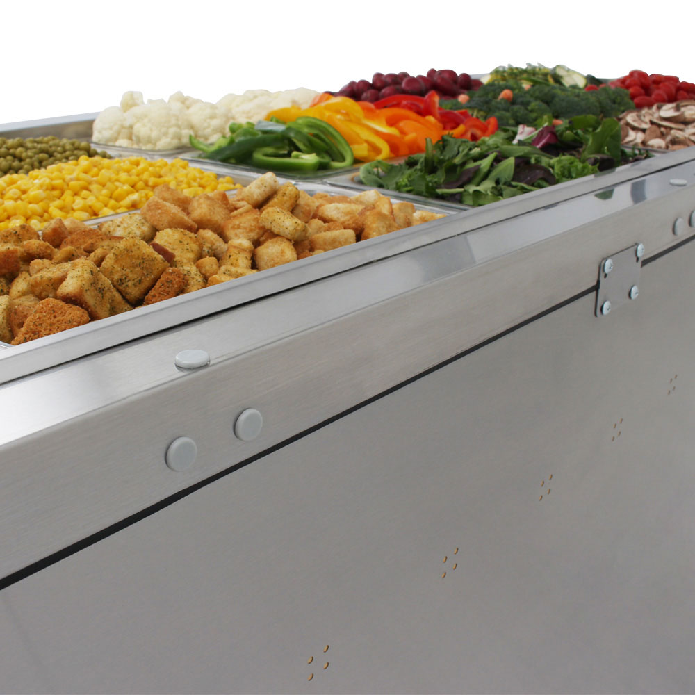 Turbo Air JBT-72 3-Section Refrigerated Buffet Table w/ Swing Doors, 18.2-cu ft, 115v