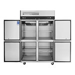 """Turbo Air M3R47-4 51.75"""" Two Section Reach-In Refrigerator, (4) Solid Door, 115v"""