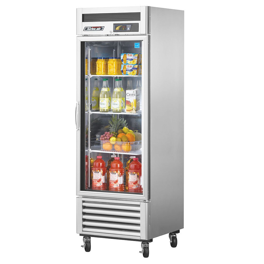 "Turbo Air MSR-23G-1 27"" Single Section Reach-In Refrigerator, (1) Glass Door, 115v"