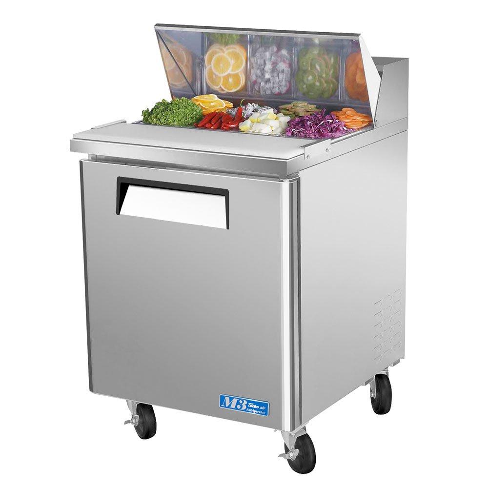"Turbo Air MST-28 27"" Sandwich/Salad Prep Table w/ Refrigerated Base, 115v"
