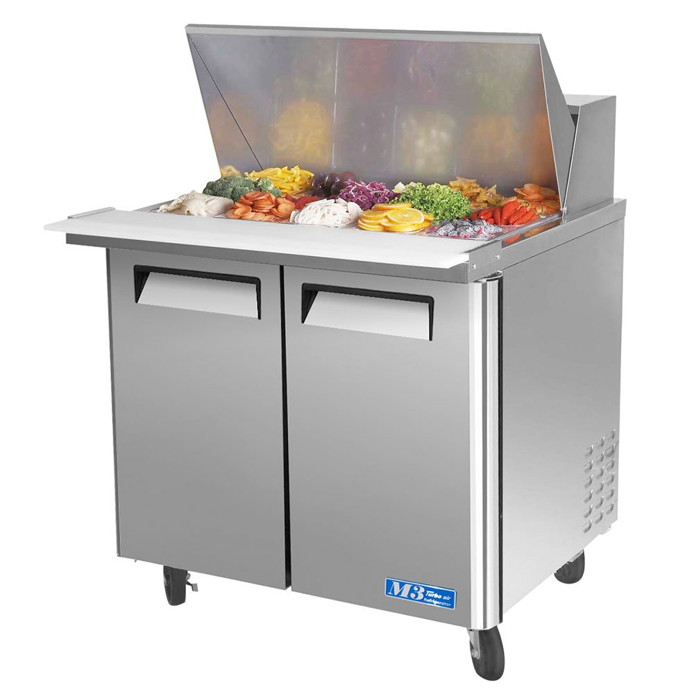 "Turbo Air MST-36-15-N6 36"" Sandwich/Salad Prep Table w/Refrigerated Base, 115v"