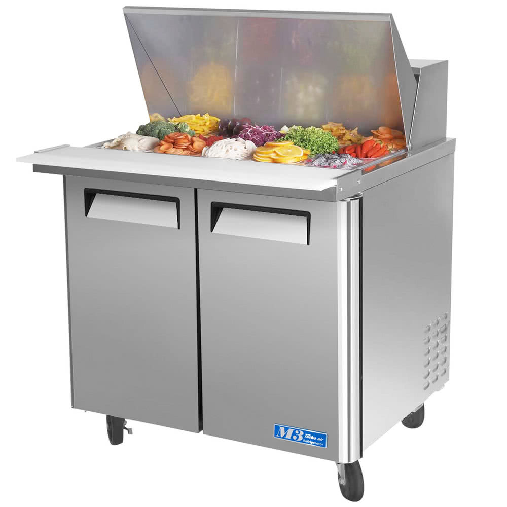"Turbo Air MST-36-15-N6 36.38"" Sandwich/Salad Prep Table w/ Refrigerated Base, 115v"