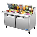 "Turbo Air MST-60-24 60"" Sandwich/Salad Prep Table w/ Refrigerated Base, 115v"