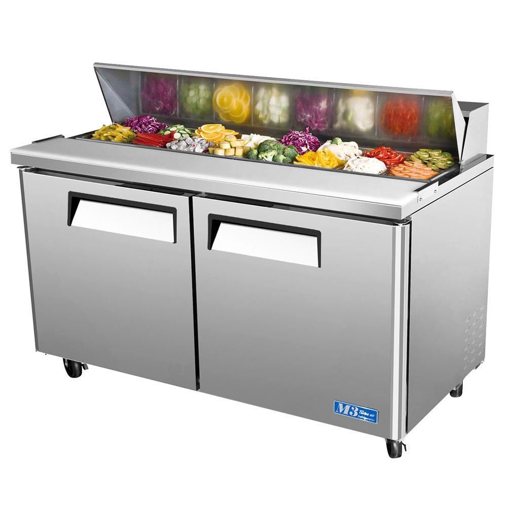 "Turbo Air MST-60 60"" Sandwich/Salad Prep Table w/ Refrigerated Base, 115v"