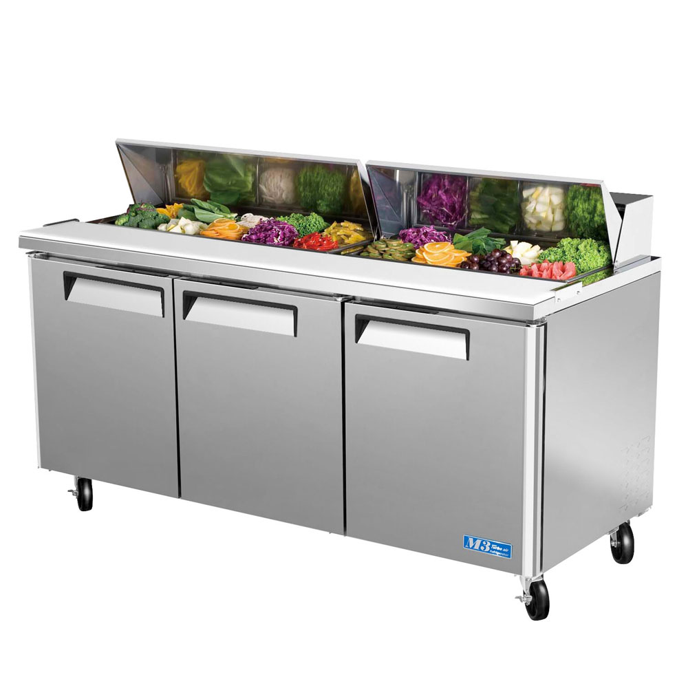 "Turbo Air MST-72 72"" Sandwich/Salad Prep Table w/ Refrigerated Base, 115v"
