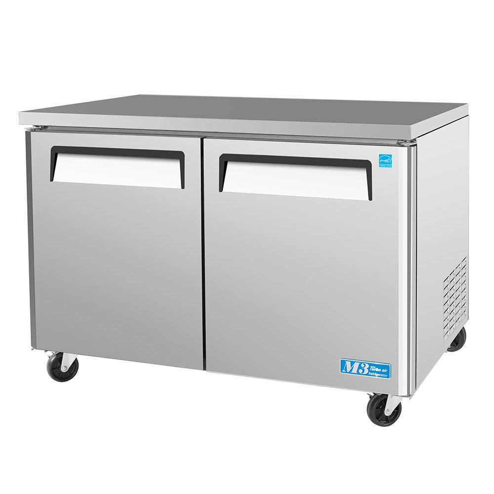 Turbo Air MUF-48 12-cu ft Undercounter Freezer w/ (2) Sections & (2) Doors, 115v