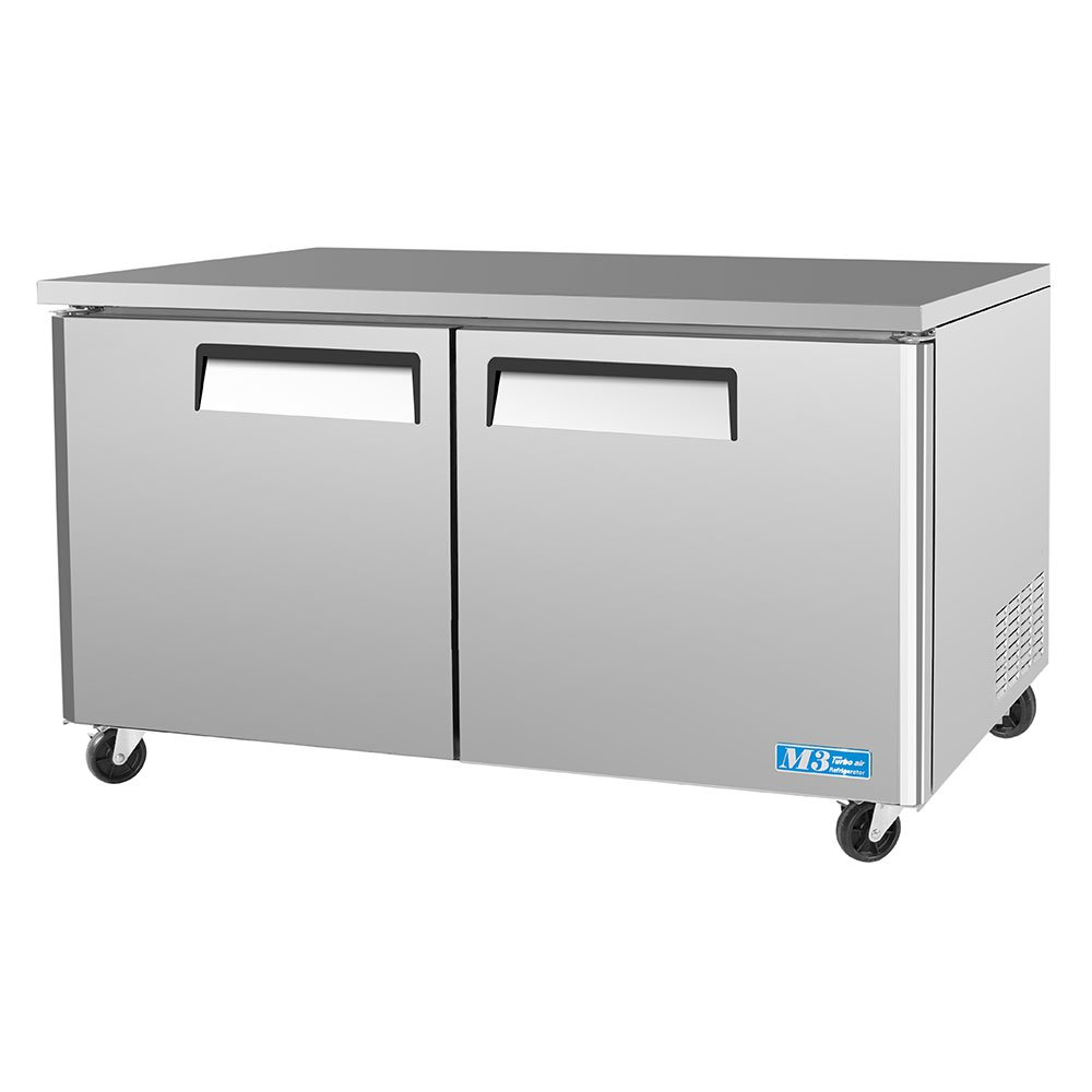 Turbo Air MUF-60 16-cu ft Undercounter Freezer w/ (2) Sections & (2) Doors, 115v