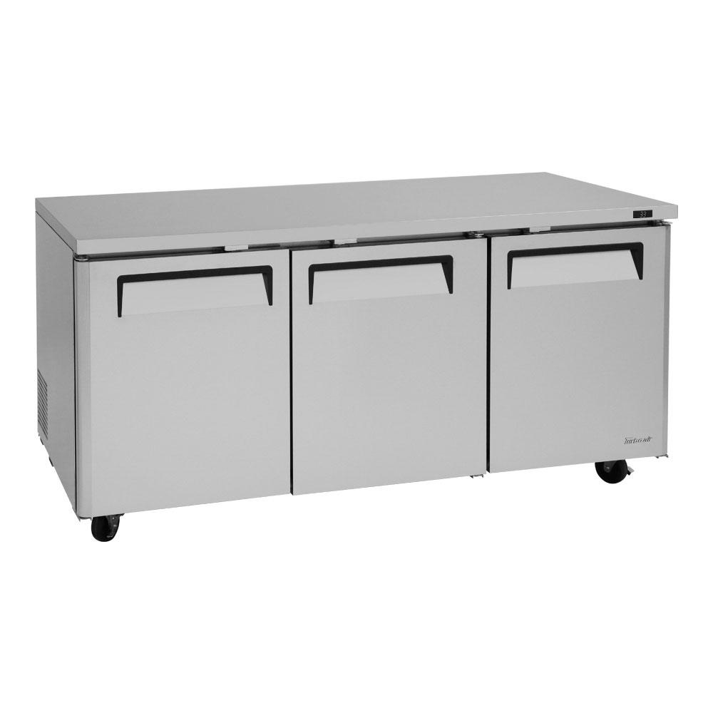 Turbo Air MUR-72 19-cu ft Undercounter Refrigerator w/ (3) Sections & (3) Doors, 115v