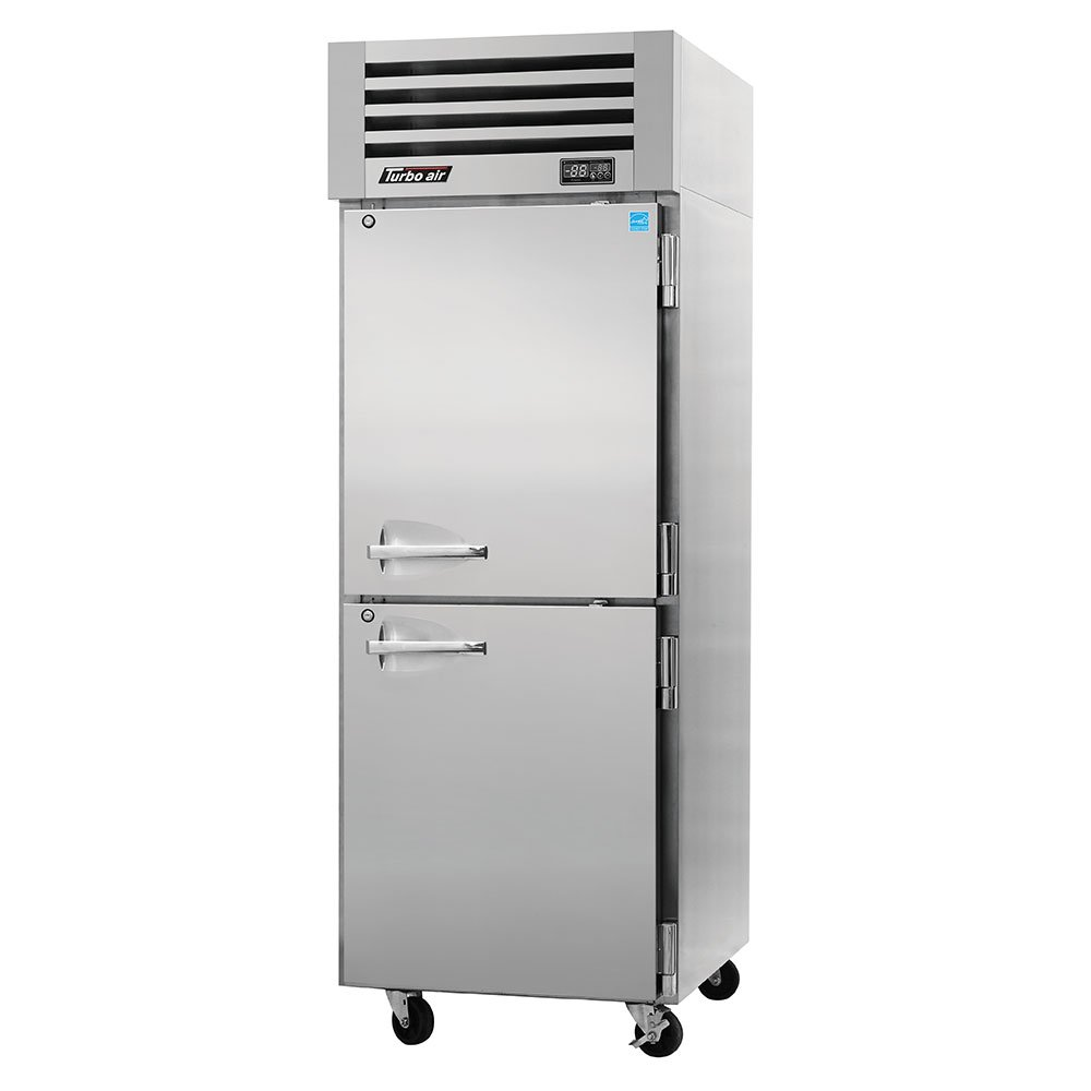 "Turbo Air PRO-26-2R 28.75"" Single Section Reach-In Refrigerator, (2) Solid Doors, 115v"