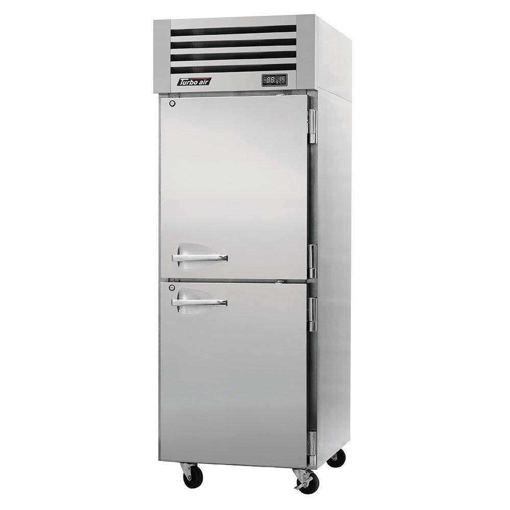 "Turbo Air PRO-26-2R-PT 28.75"" Single Section Pass-Thru Refrigerator, (4) Solid Doors, 115v"
