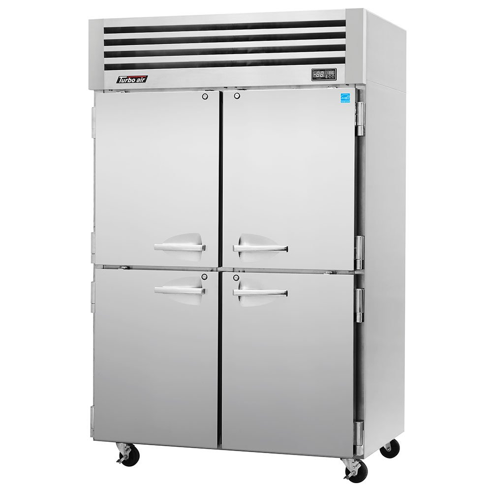 "Turbo Air PRO-50-4F 51.75"" Two Section Reach-In Freezer, (4) Solid Doors, 115v"