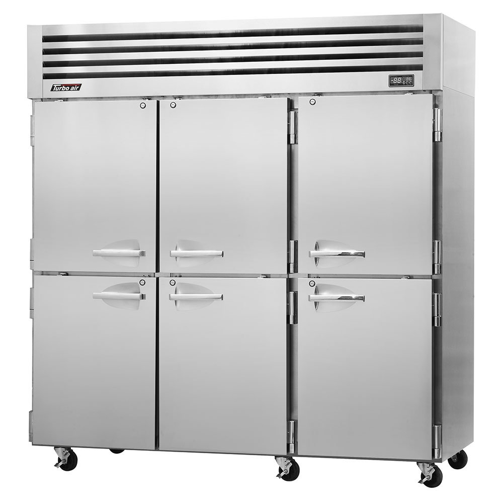 "Turbo Air PRO-77-6F 77.75"" Three Section Reach-In Freezer, (6) Solid Doors, 115v"