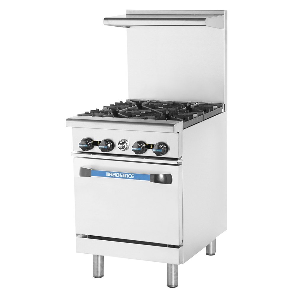 "Turbo Air TAR-4 24"" 4-Burner Gas Range, NG"