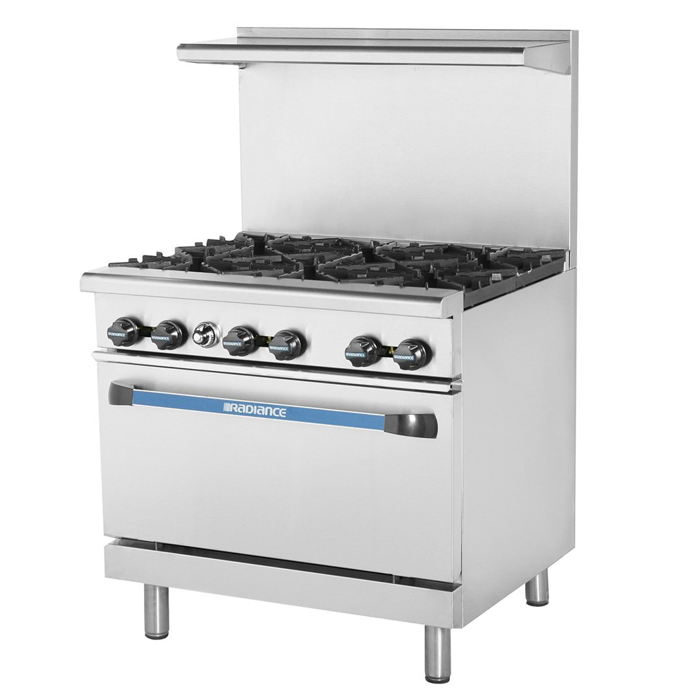 "Turbo Air TAR-6 36"" 6-Burner Gas Range, LP"