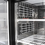 "Turbo Air TBB-24-48SG-N 49"" (2) Section Bar Refrigerator - Swinging Glass Doors, 115v"