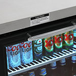 "Turbo Air TBB-24-72SG-N 73"" (3) Section Bar Refrigerator - Swinging Glass Doors, 115v"