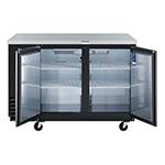 "Turbo Air TBB-2SB 59"" (2) Section Bar Refrigerator - Swinging Solid Doors, 115v"