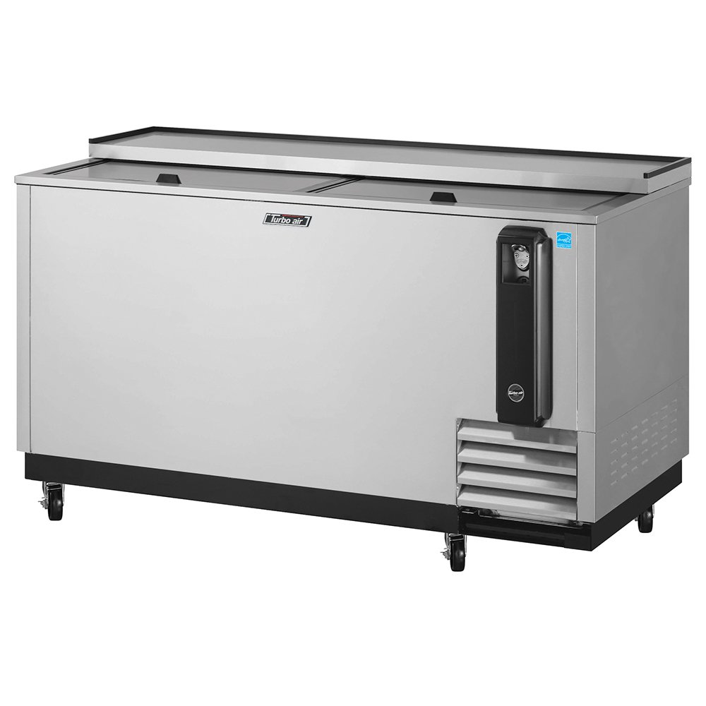 "Turbo Air TBC-65SD 65"" Forced Air Bottle Cooler - Holds (528) 12-oz Bottles, Stainless Interior, 115v"