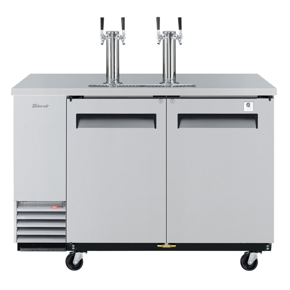 "Turbo Air TBD-2SD 59"" Draft Beer System w/ (2) Keg Capacity - (2) Columns, Stainless, 115v"