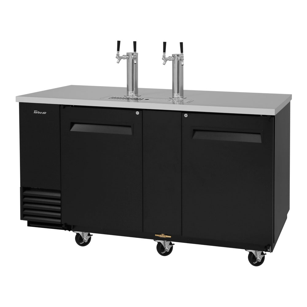 "Turbo Air TBD-3SB 69"" Draft Beer System w/ (3) Keg Capacity - (2) Columns, Black, 115v"