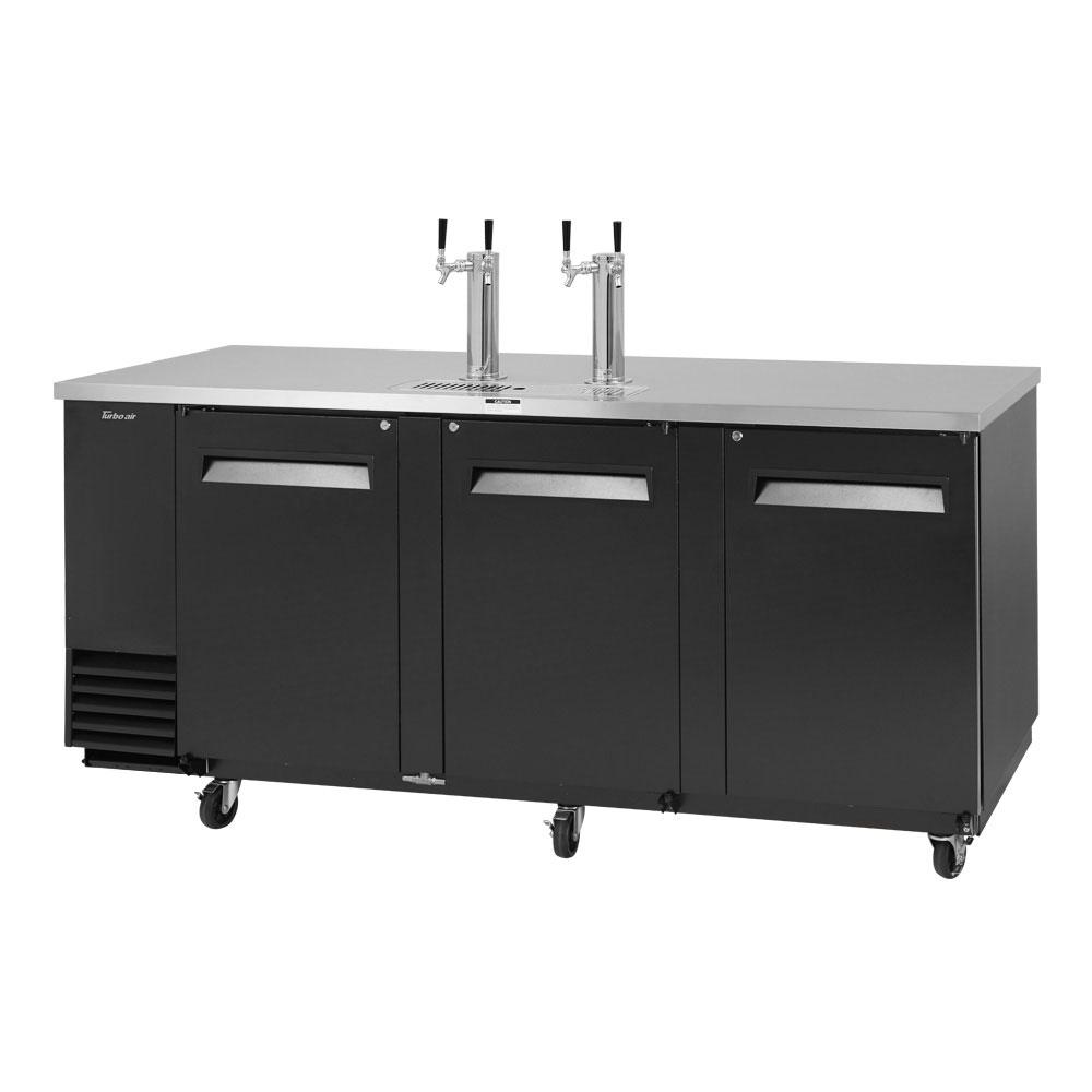 "Turbo Air TBD-4SB-N 90.38"" Draft Beer System w/ (4) Keg Capacity - (2) Columns, Black, 115v"