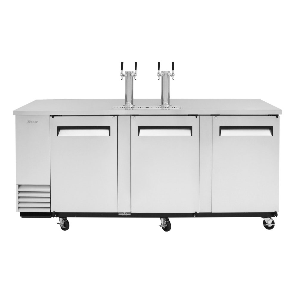 "Turbo Air TBD-4SD-N 90.38"" Draft Beer System w/ (4) Keg Capacity - (2) Columns, Stainless, 115v"