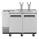 "Turbo Air TCB-2SD 59"" Draft Beer System w/ (2) Keg Capacity - (2) Columns, Stainless, 115v"