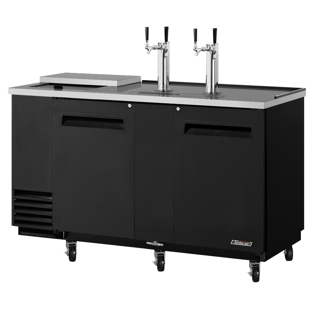 "Turbo Air TCB-3SB 69"" Draft Beer System w/ (3) Keg Capacity - (2) Columns, Black, 115v"