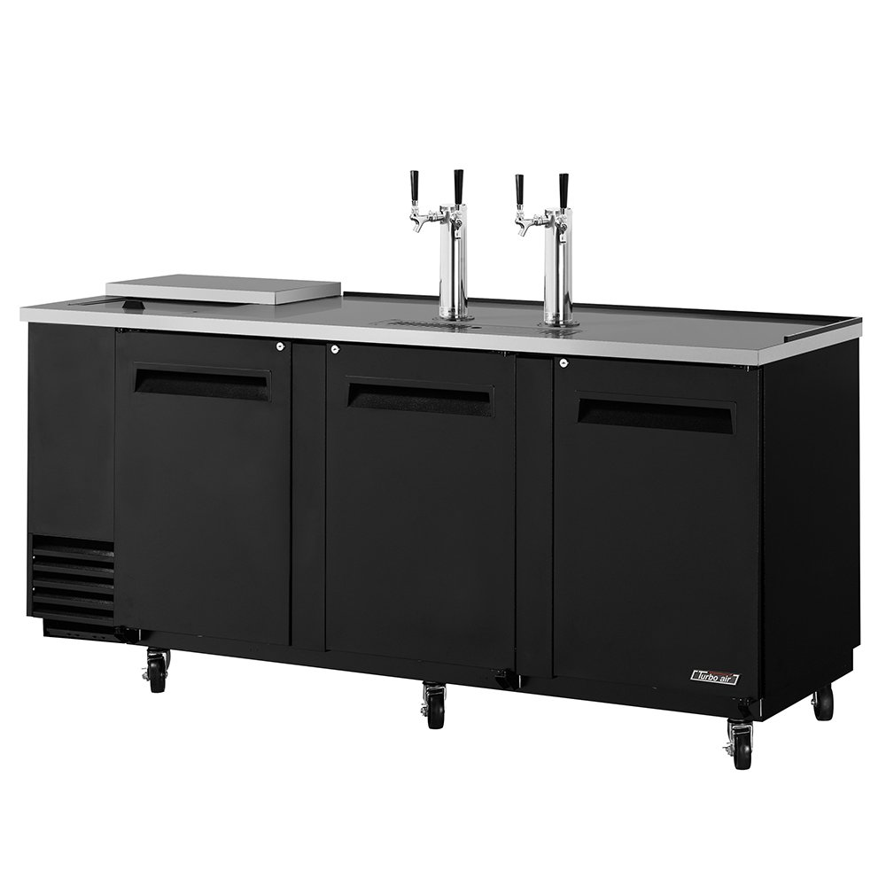 "Turbo Air TCB-4SB 90"" Draft Beer System w/ (4) Keg Capacity - (2) Columns, Black, 115v"