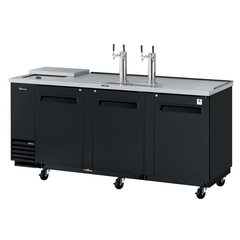 "Turbo Air TCB-4SB-N 90.38"" Draft Beer System w/ (4) 1/2 Keg Capacity - (2) Columns, Black, 115v"