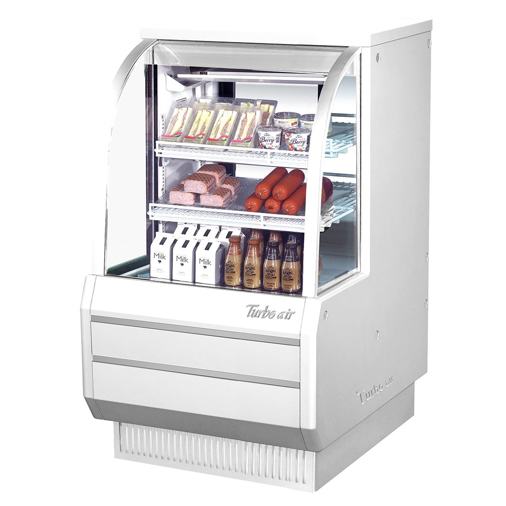 """Turbo Air TCDD-36-2-H 36.5"""" Full Service Deli Case w/ Curved Glass - (3) Levels, 115v"""