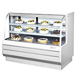 "Turbo Air TCGB-60-2 60"" Full Service Bakery Case w/ Curved Glass - (3) Levels, 115v"