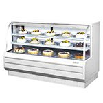 "Turbo Air TCGB-72-CO 72.5"" Full Service Bakery Display Case w/ Curved Glass - (3) Levels, 115v"