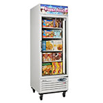 "Turbo Air TGF-23F 27"" One-Section Display Freezer w/ Swinging Door - Bottom Mount Compressor, 115v"