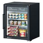 "Turbo Air TGF-5SD 25"" One-Section Display Freezer w/ Swinging Door - Rear Mount Compressor, Black, 115v"