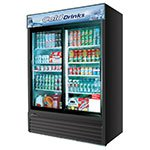 "Turbo Air TGM-48RB 56"" Two-Section Refrigerated Display w/ Sliding Doors, Bottom Mount Compressor, 115v"