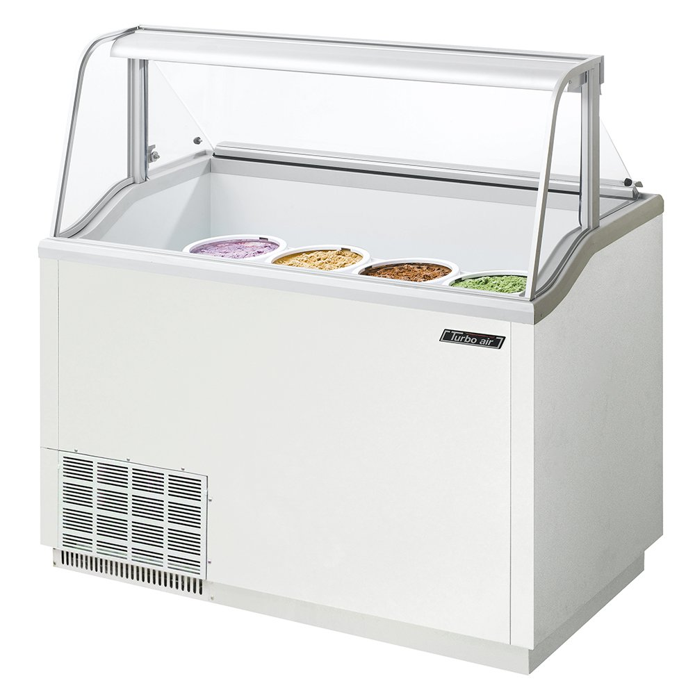 "Turbo Air TIDC47W 47"" Stand Alone Ice Cream Freezer w/ 8-Tub Capacity, 115v"